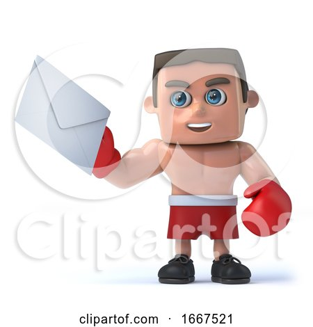 3d Boxer Has Mail by Steve Young
