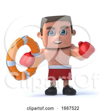 3d Boxer Comes to the Rescue with a Life Ring by Steve Young