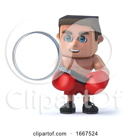 3d Boxer Magnifies It by Steve Young