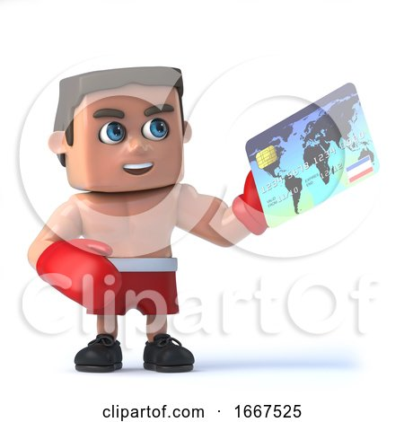 3d Boxer Makes a Purchase with His Debit Card by Steve Young