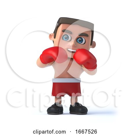 3d Boxer Stands Ready to Fight by Steve Young