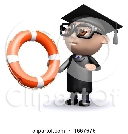 3d Graduate Holding a Lifering by Steve Young