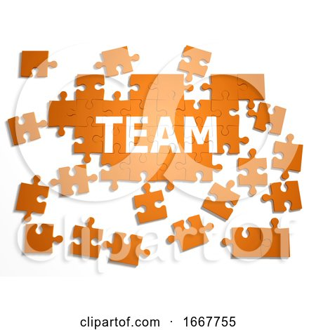 "3d Jigsaw Puzzle ""Team"" Posters, Art Prints"
