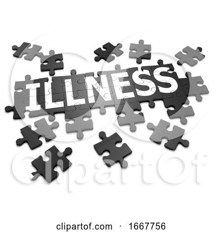 3d Illness Jigsaw Posters, Art Prints