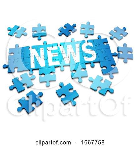 3d News Jigsaw Posters, Art Prints