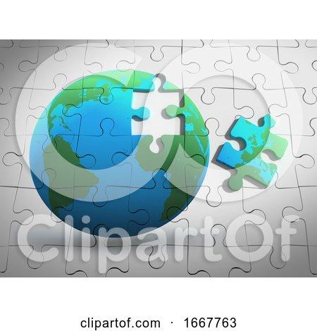 3d Earth Jigsaw Posters, Art Prints