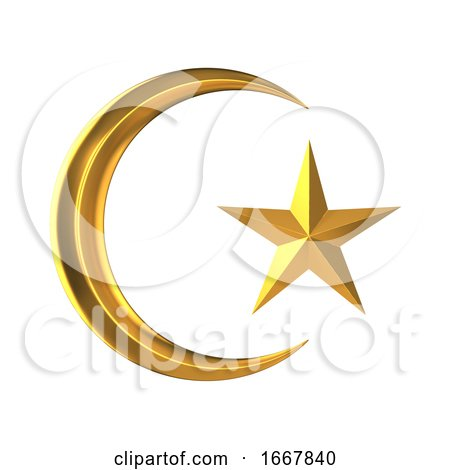 3d Gold Star and Crescent by Steve Young