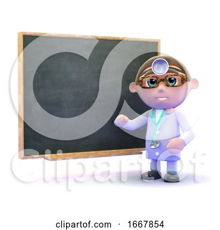 3d Doctor at the Blackboard by Steve Young