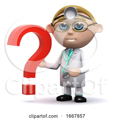 3d Doctor Has a Question Mark by Steve Young