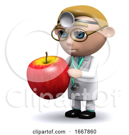 3d Doctor Has an Apple by Steve Young