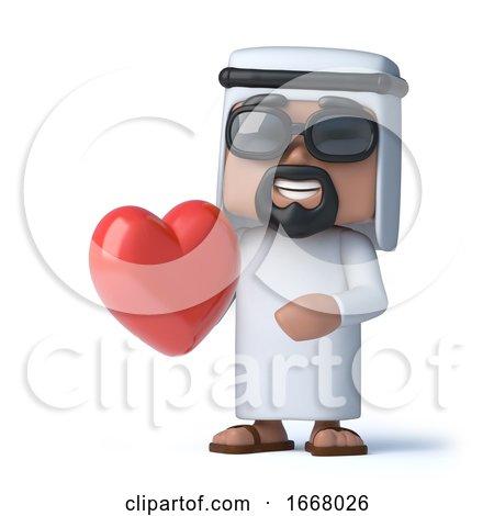 3d Arab Is in Love Posters, Art Prints