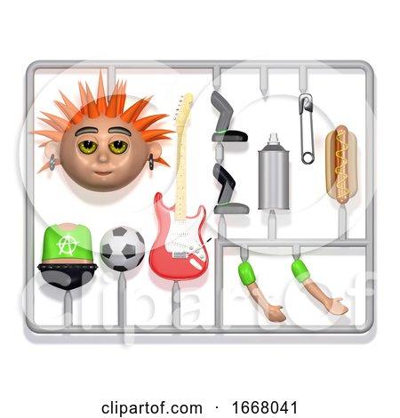 3d Plastic Punk Construction Kit by Steve Young