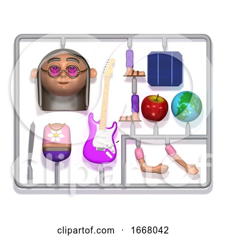 3d Plastic Hippie Construction Kit by Steve Young