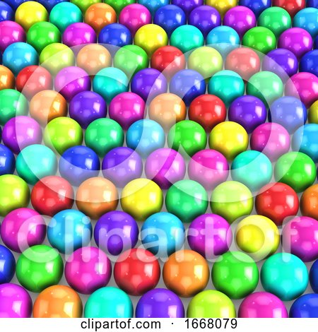 3d Multi Colored Balls by Steve Young