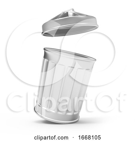 3d Trash Can Open by Steve Young