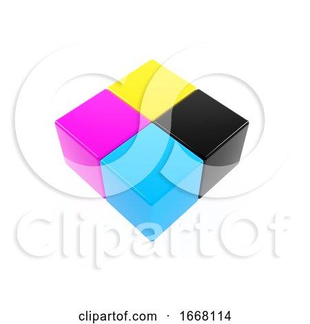 3d CMYK Cubes by Steve Young