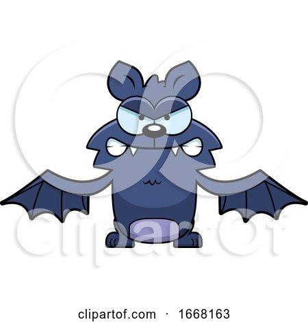 Cartoon Mad Flying Bat by Cory Thoman