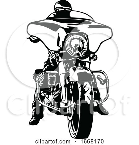 Black and White Motorcyclist by dero
