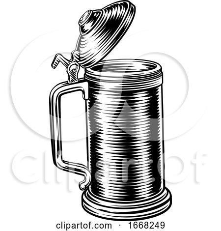 Beer Stein German Oktoberfest Pint Tankard Mug by AtStockIllustration