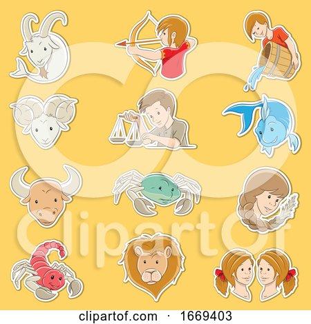 Horoscope Zodiac Symbols by cidepix