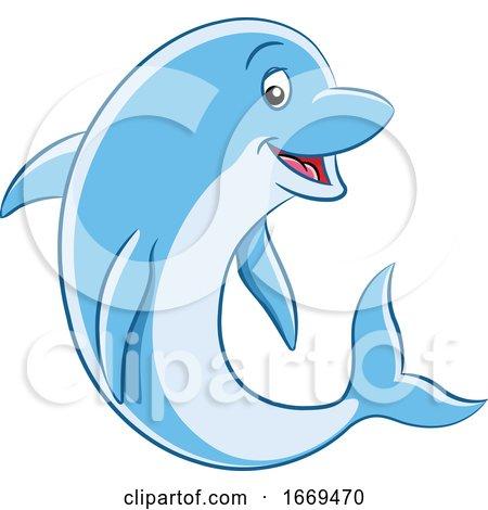 Cartoon Dolphin by cidepix