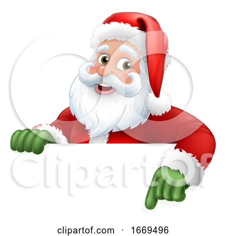 Santa Claus Christmas Cartoon Character by AtStockIllustration