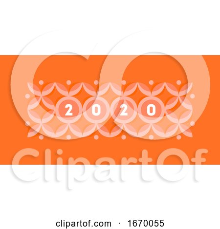 Abstract Design with Elegant Numbers 2020 on Pastel Colored Geometric Pattern with Circles and Stars. Modern Vector Illustration for Calendar, Banner or Web Page by elena