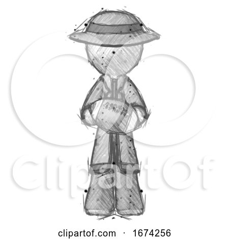Sketch Detective Man Giving Football to You by Leo Blanchette