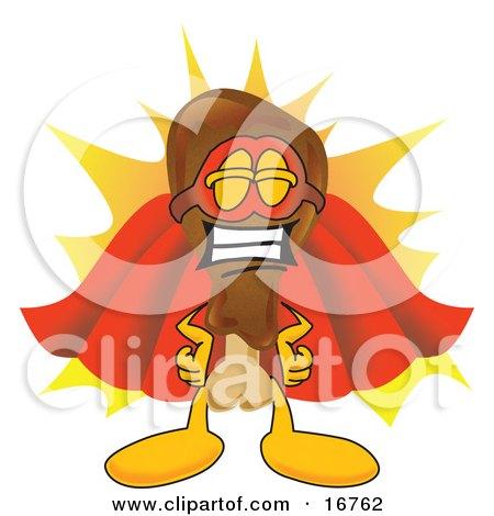 Chicken Drumstick Super Hero Mascot Cartoon Character  Posters, Art Prints