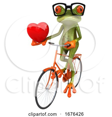 3d Green Frog, on a White Background Posters, Art Prints