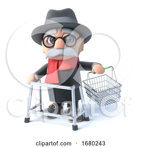3d Grandpa Goes Shopping by Steve Young