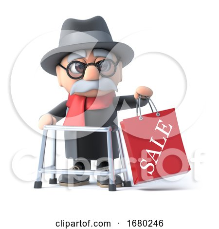 3d Grandpa Has Been to the Sales by Steve Young