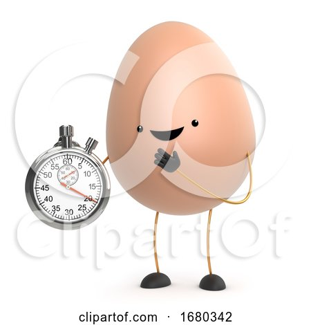 3d Cute Toy Egg Has a Stopwatch by Steve Young