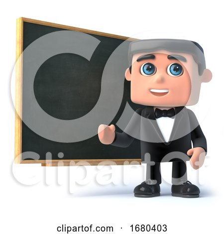 3d Bow Tie Spy at the Blackboard by Steve Young