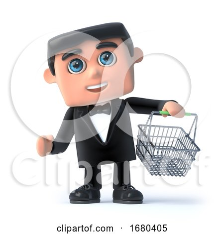 3d Bow Tie Spy Goes Shopping by Steve Young