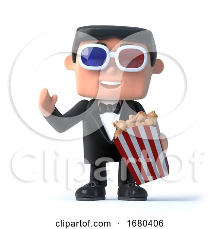 3d Bow Tie Spy at the 3d Movies by Steve Young