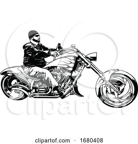 Black and White Biker by dero