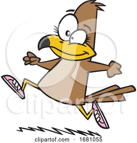 Cartoon Running Falcon by toonaday