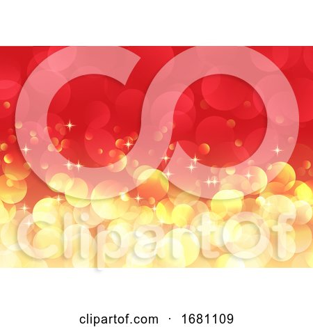 Christmas Bokeh Lights Background by KJ Pargeter