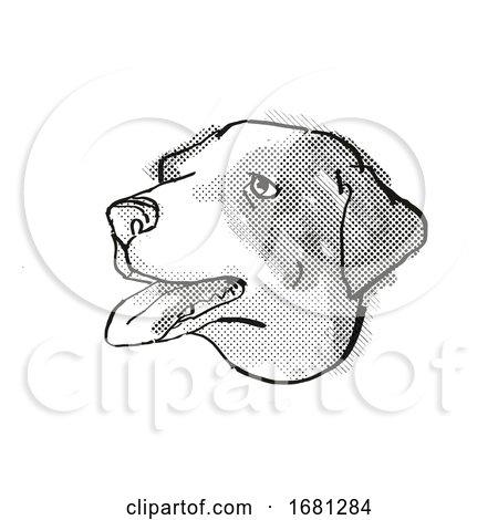 Appenzeller Sennenhunde Dog Breed Cartoon Retro Drawing by patrimonio