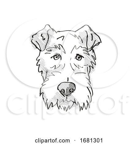 Fox Terrier Dog Breed Cartoon Retro Drawing by patrimonio