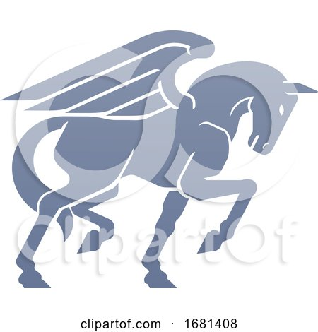 Pegasus Winged Horse Concept by AtStockIllustration