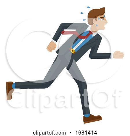 Business Man Stress Pressure Tired Running Concept by AtStockIllustration