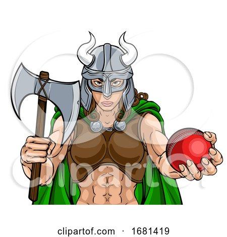 Viking Female Gladiator Cricket Warrior Woman by AtStockIllustration