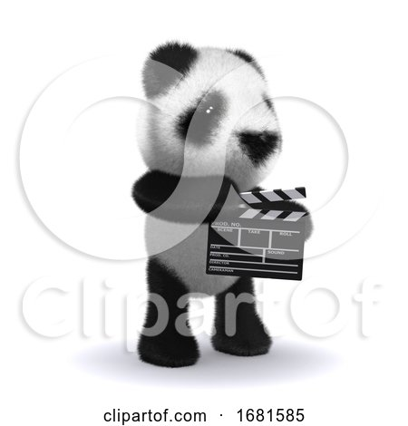 3d Baby Panda Bear Is Making a Movie by Steve Young