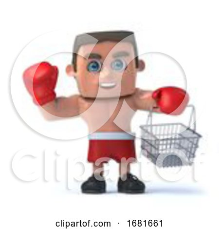 3d Boxer Goes Shopping by Steve Young
