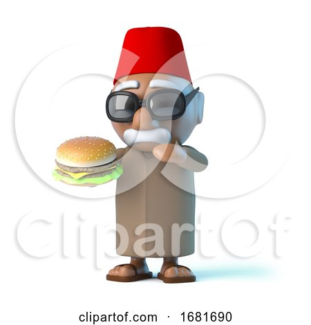 3d Moroccan Loves Beefburgers by Steve Young