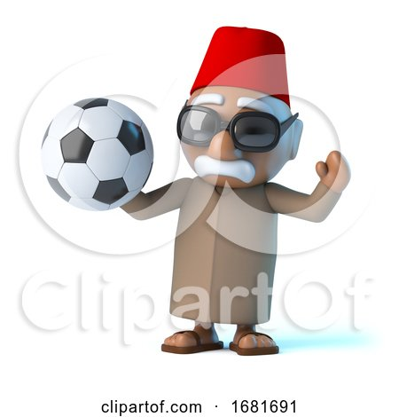 3d Moroccan Loves Football by Steve Young
