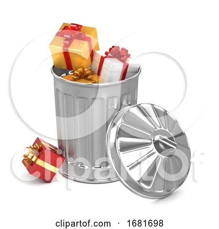 3d Gift Trash Can by Steve Young