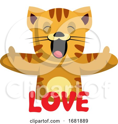 Ginger Cat Says That She Loves You Posters, Art Prints